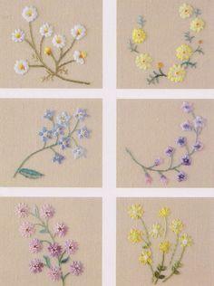 lindas flores bordadas
