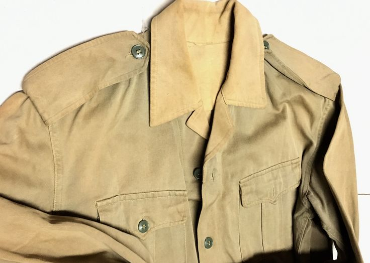 North Vietnamese Army Enlisted Light Khaki Shirt with Epaulets