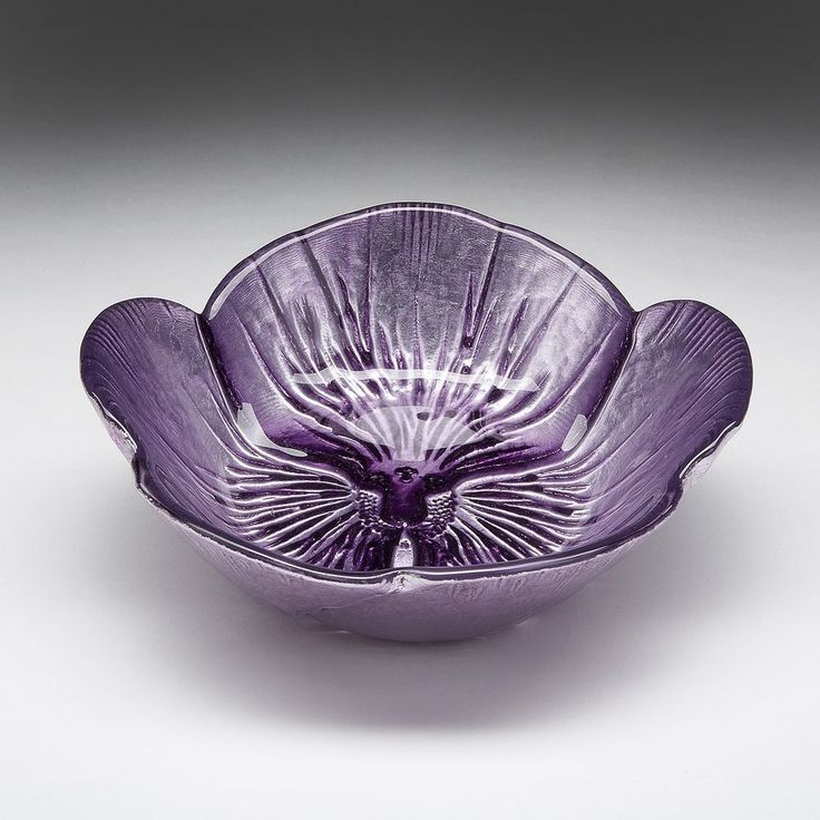 Pansy Two-tone Purple Bowl #Unbranded