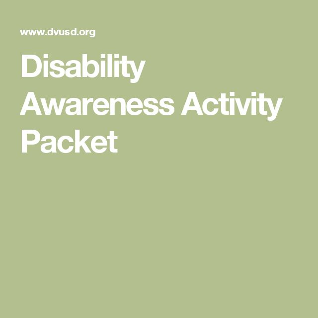 "Disability Awareness Activity Packet-  (note: This packet is good, but almost 10 years old. It contains the phrase ""mental retardation"" because that is the language used then. You may want to change that part to ""intellectual disability."")"