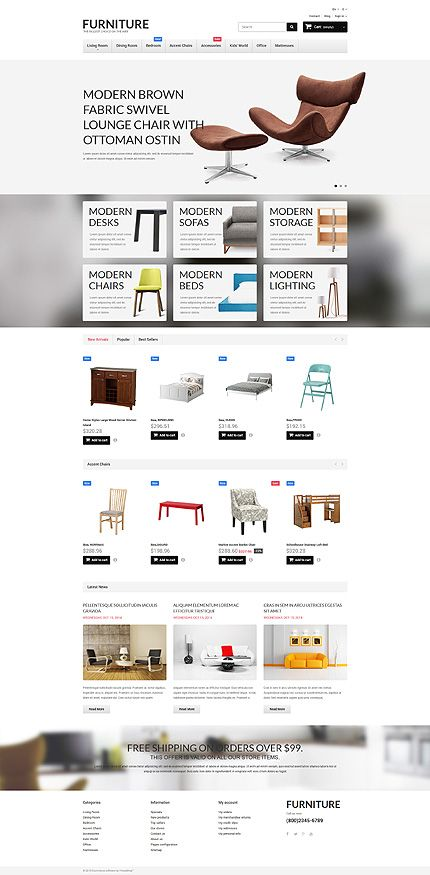 43 best home deco web templates images on pinterest coffee break template and wordpress. Black Bedroom Furniture Sets. Home Design Ideas