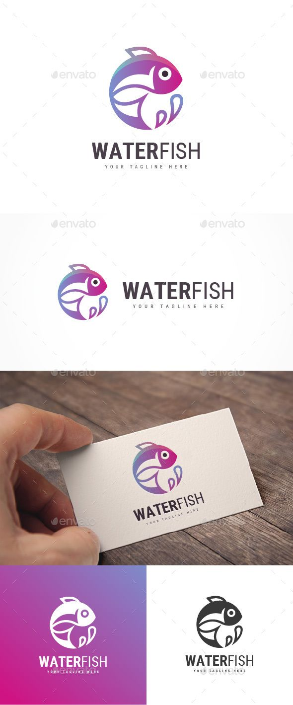 Water Fish Logo Template PSD, Vector EPS, AI Illustrator
