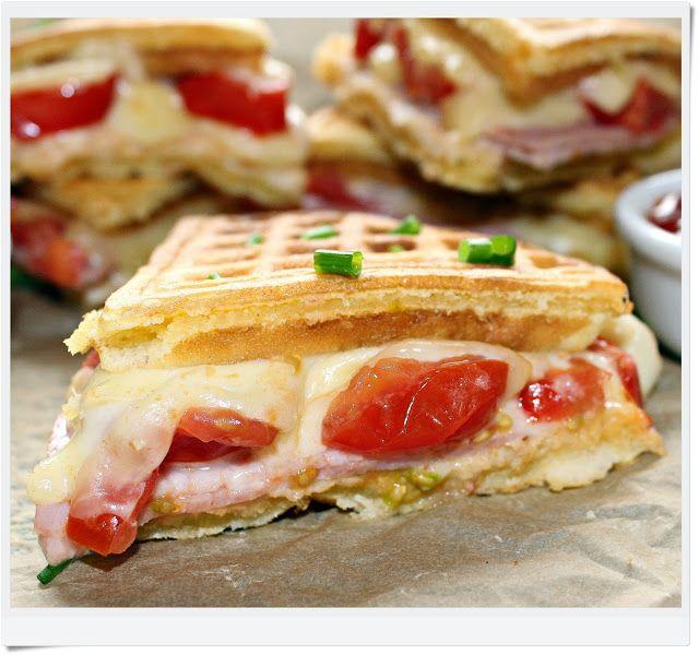 receita maravilhosa de waffles salgados.