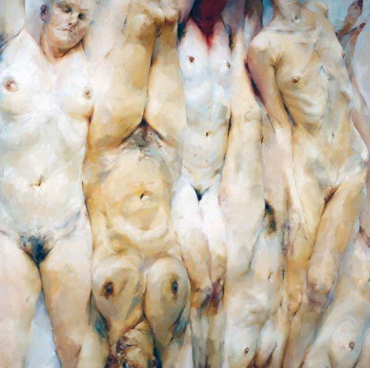 Jenny Saville, Shift, 1996-97, Oil on canvas, 330.2 x 330.2 cm @ Saatchi Gallery