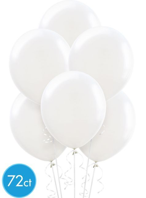 White Balloons 72ct - Party City Canada