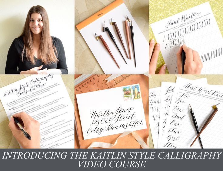 The Kaitlin Style calligraphy video course was released with the intent of helping you to learn modern calligraphy!