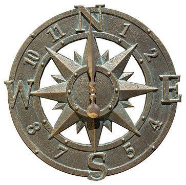 Compass Outdoor Clock traditional-clocks