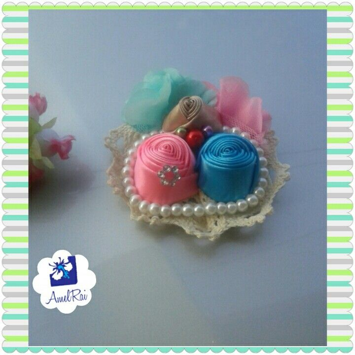 pastel brooch