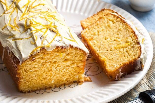 Κέικ λεμόνι - καρύδα με γλάσο λεμονιού