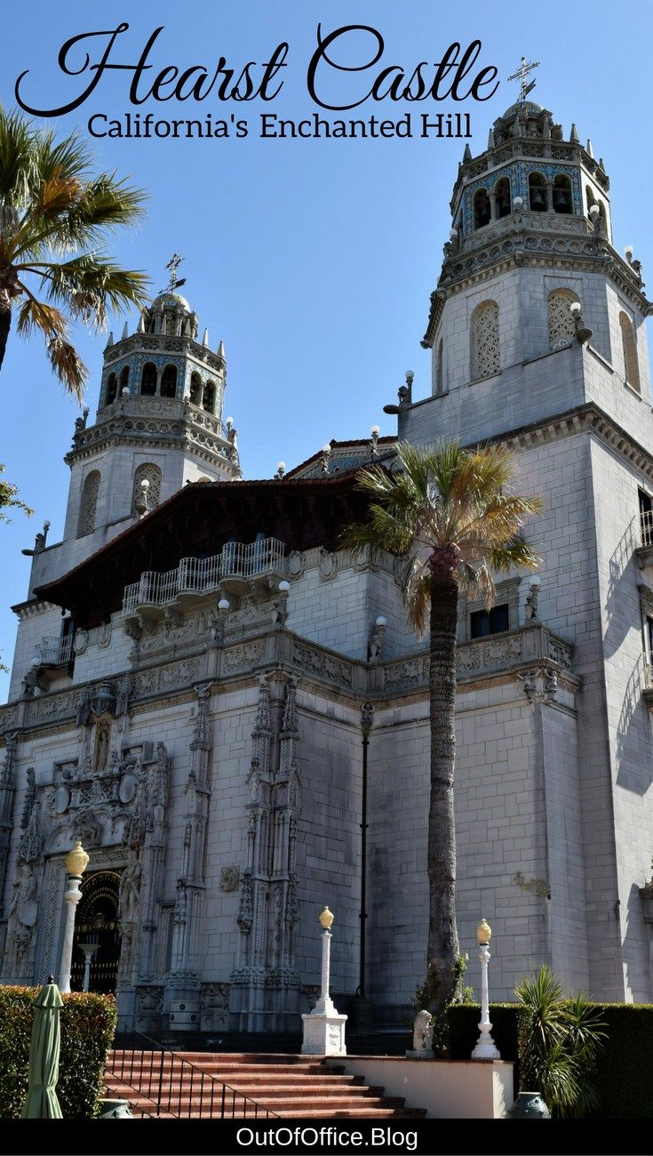 Hearst Castle sits above the Pacific Ocean between San Francisco and Los Angeles. It was a playground for Hollywood's Elite during the 20's and 30's. #hearstcastle #california #travel
