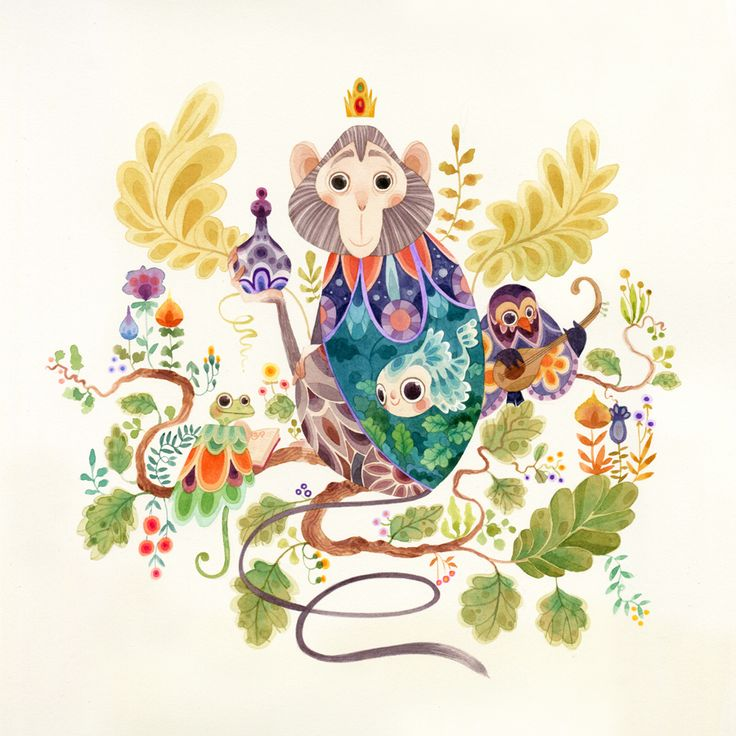 Fantastical Flora & Fauna - Aqua on Behance by Lorena Alvarez Gomez