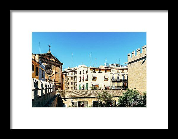 Classic Buildings Architecture In Valencia City Framed Print