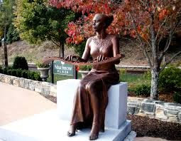 Nina Simone Wavy Keyboard Statue, Tryon. More cool than weird, this bronze statue pays tribute to Tryon native and famous musician Nina Simone.