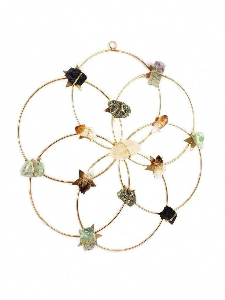 Crystal grid healing crystal wall decor flower of life
