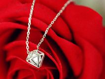 Sterling Silber Halskette Diamant