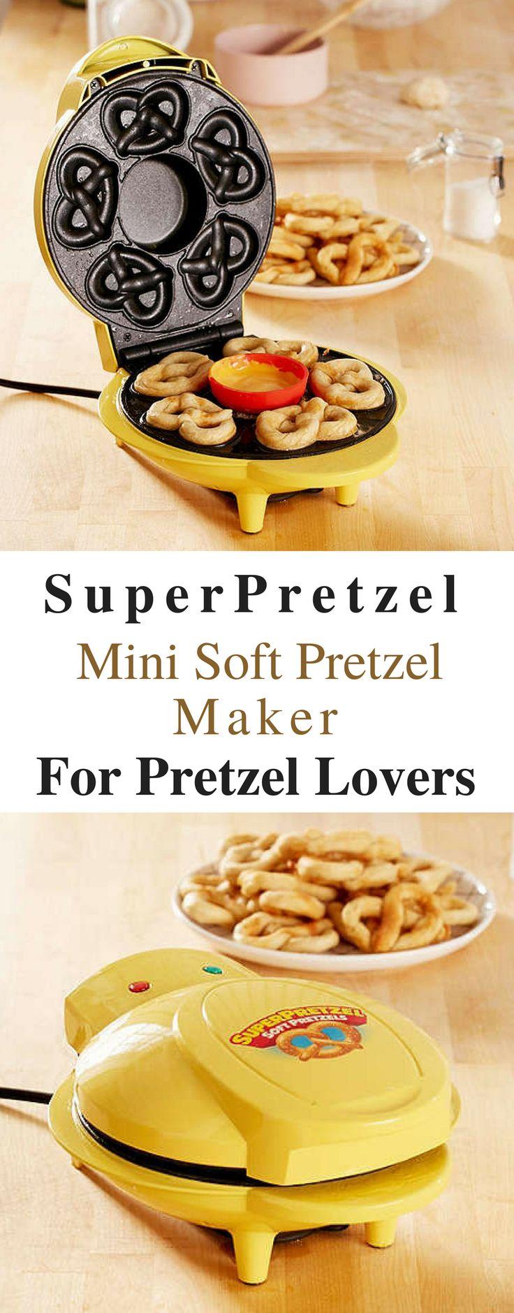 Best Mini Soft Pretzel Maker! This is awesome! NNT #Afflink #pretzels #maker #cooking #baking #GiftForHer #giftsforher #giftforhim #giftforcouple #giftideas #GIFTIDEA #gift #christmasgifts pretzel maker | pretzel maker pretzel bites |