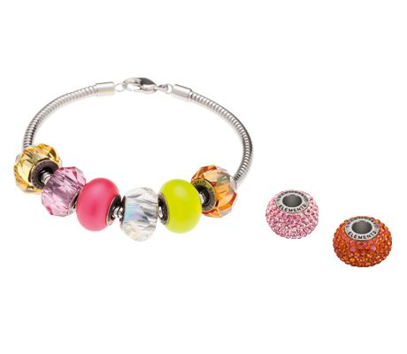 Swarovski's #BeCharmed Bright Outlook Starter Set. Available at www.KaydeDesigns.com #beads #beadsters #beadsonthego #kaydedesigns