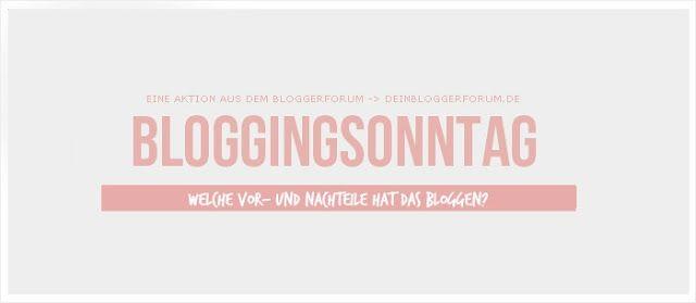 BloggingSonntag: Welche Vor- und Nachteile hat das Bloggen?