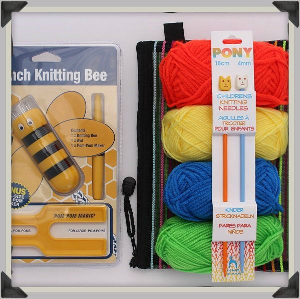 Kids Learn to Knit Gift Set