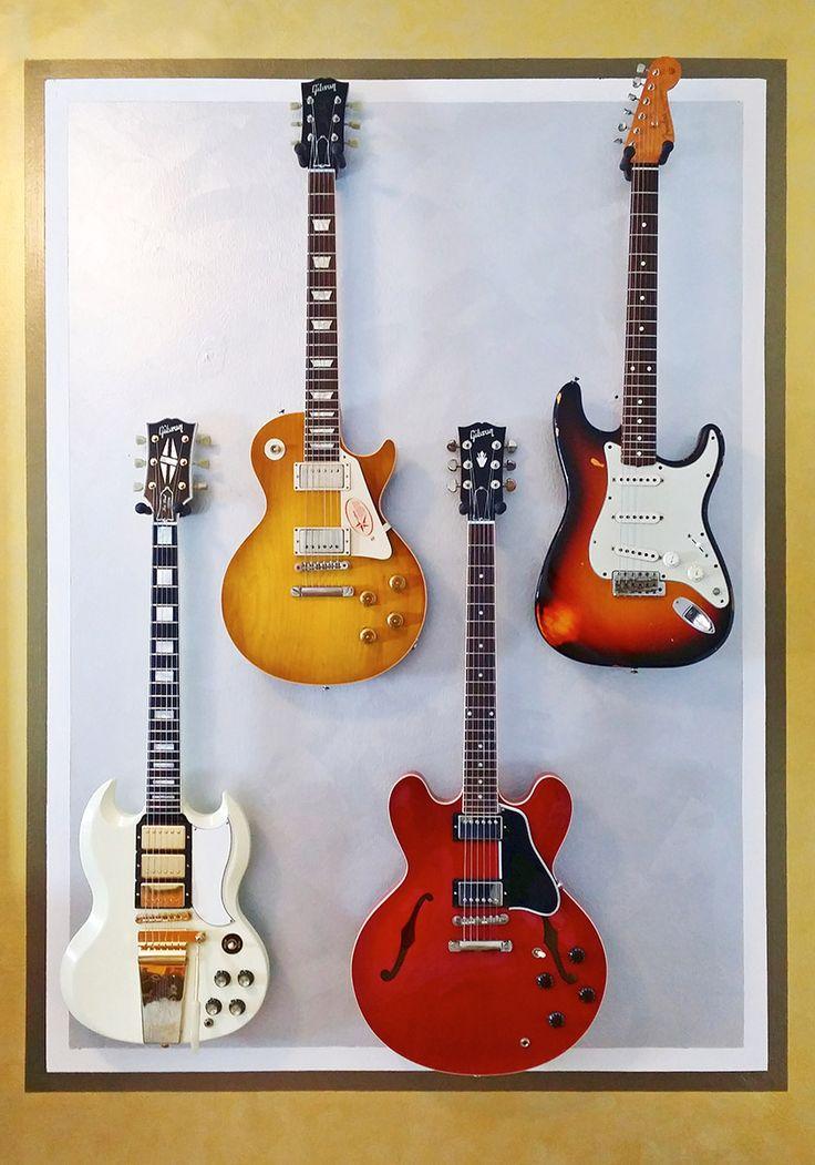 Guitar wall in bedroom...