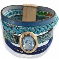 #Sinterklaas cadeautjes. Blauwe multistrengs armband met magneet sluiting voor maar 9,95