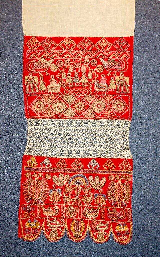 1.Конец свадебного полотенца. XIX век. Шекснинский район. Благодаря любезному разрешению Глебовой Ангелины Аркадьевны , заведующей художественным отделом…