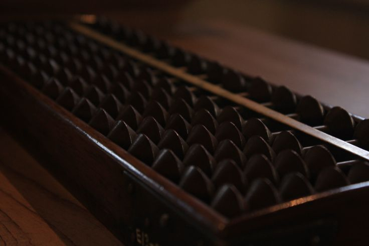 old abacus, Edo-tokyo Tatemonoen, Tokyo