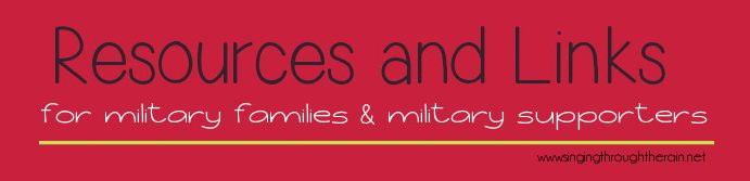 Resources and Links for Military Families & Military Supporters #militarylife #militaryfamilies