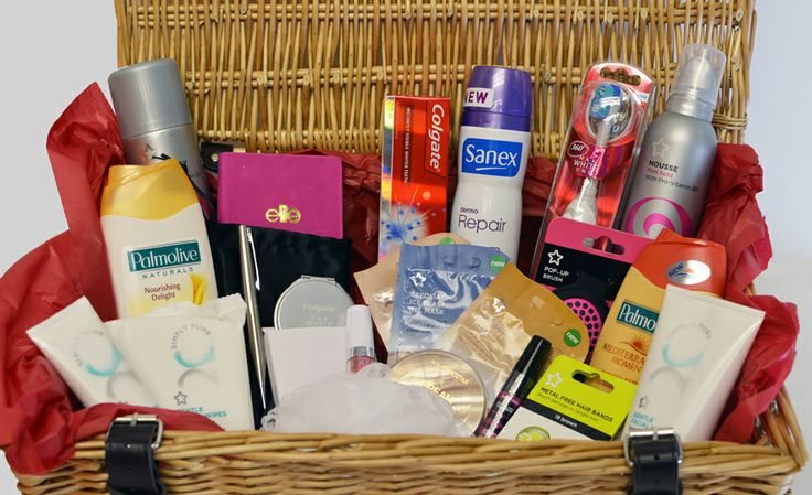 We're busy prepping the hampers for Colgate's 'Win a hamper a day' competition in association with Superdrug