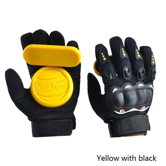 1 Pair Downhill Skateboard Gloves Roller Safety Gear Longboard Slider Gloves With Slider Skate Accessoriesg For Peny Long Board