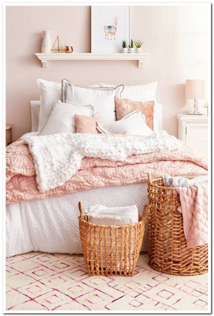 51 Inspiring Diy Bedroom Decor Ideas You Can Try Bedroominspirations Bedroomdesign Bedroomideas Home Design In 2020 Mattress Room Pink Painted Walls Bedroom Diy