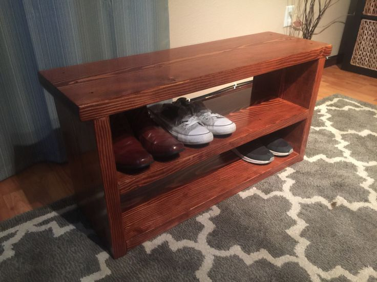 Rustic Entryway Shoe Bench by ArnoldWoodWorks on Etsy https://www.etsy.com/listing/489030054/rustic-entryway-shoe-bench