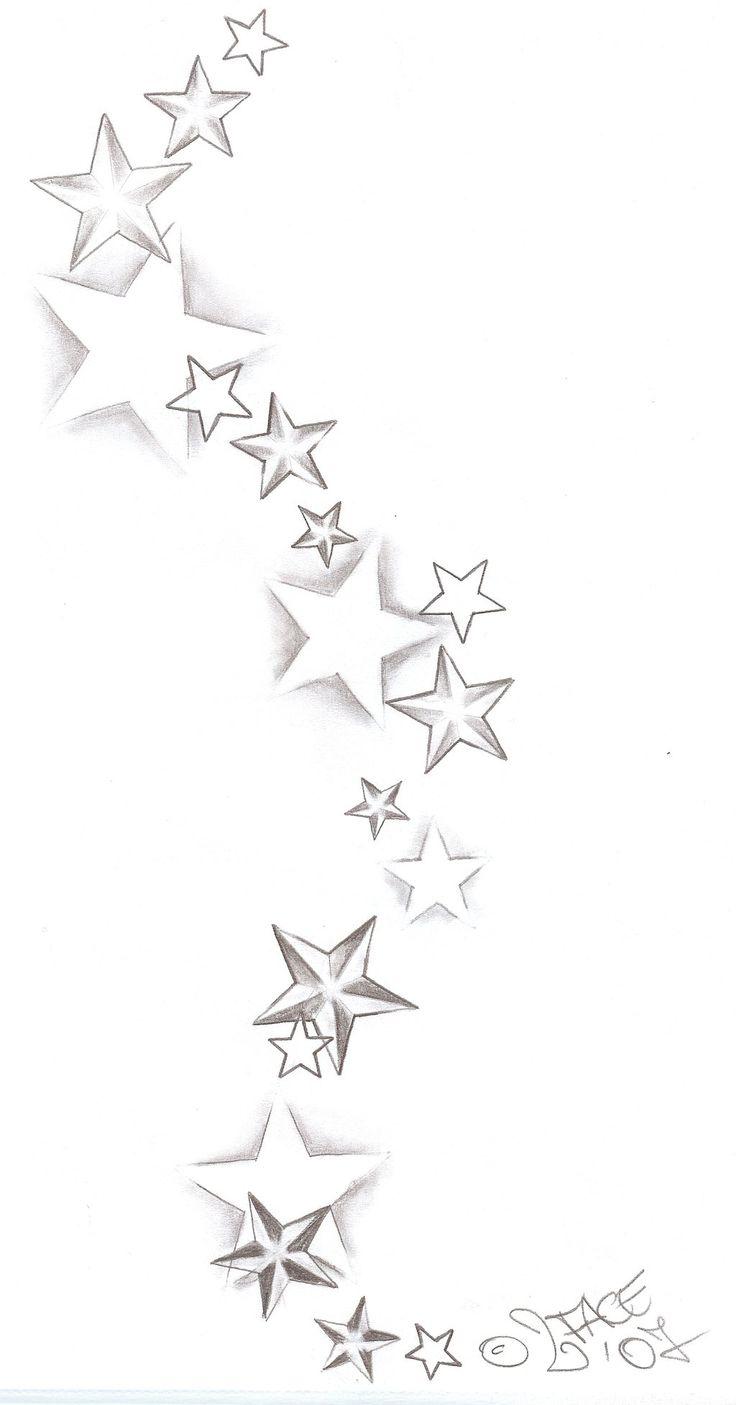 Tattooflash Stars Shadings by 2Face-Tattoo.deviantart.com on @deviantART
