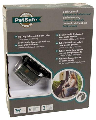 Petsafe pbc19-13058 blafband deluxe voor grote honden  u wilt uw hond afleren onnodig te blaffen. maar u wilt er ook zeker van zijn dat hij zich op zijn gemak voelt. daarvoor is deze blafband een ultieme oplossing; hij is waterdicht let op. dit betekent nog niet dat de hond ermee kan gaan zwemmen. makkelijk te bevestigen met het quickfit sluiting waardoor de halsband makkelijk af te doen is en zorgt voorlekker draaggemak. petsafe blafband deluxe voor grote honden pbc19-13058 de petsafe…