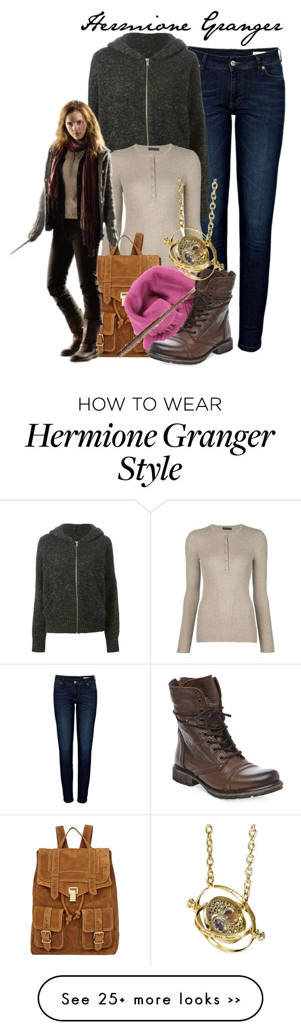 """""""Hermione Granger - Arwen"""" by the-fandom-gals on Polyvore featuring Anine Bing, Étoile Isabel Marant, ATM by Anthony Thomas Melillo, Proenza Schouler, Bajra, Steve Madden and QueenofGondor"""