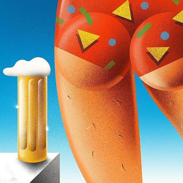 FRIDAY! BEER O'CLOCK!!!  Airbrush + speedos + beer. . . #airbrush #art #artwork #illustration #beer #speedos #craftbeer #80s #1980s #popart #print #poster #designspiration #thedesigntip #graphicdesigncentral #friday #öl #konst #graphicdesign #grafiskdesign