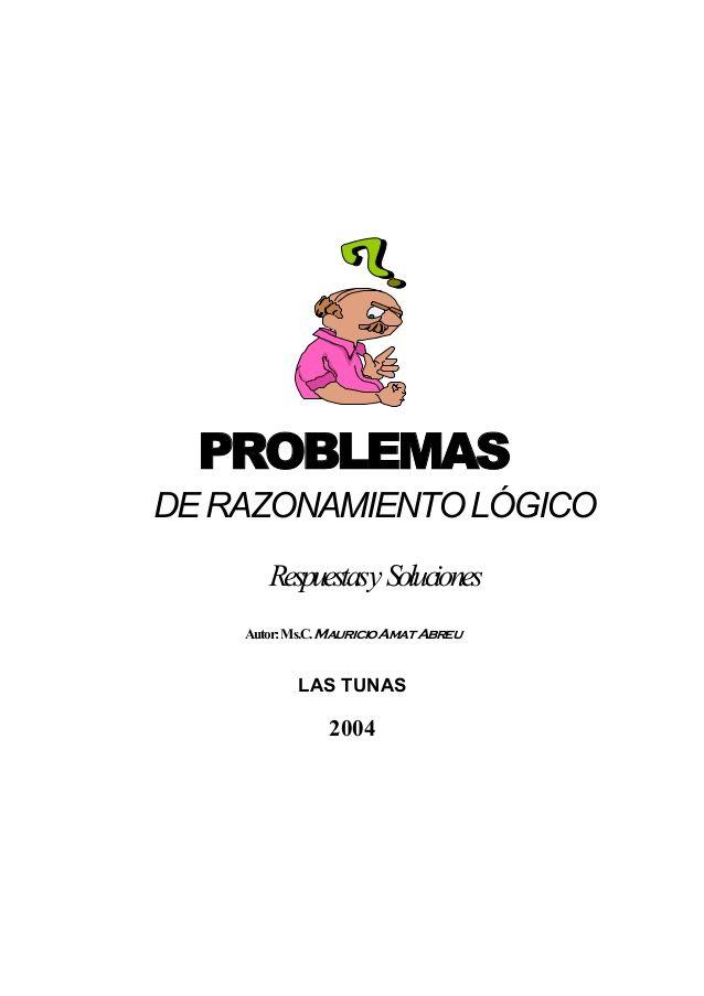 Problemas de razonamiento lógico libro de respuestas