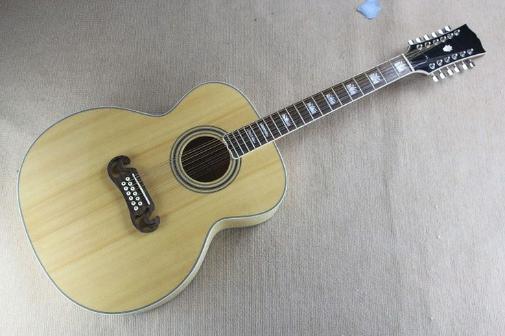 (275.00$)  Watch more here - http://ai1sr.worlditems.win/all/product.php?id=32791577629 - Free shipping Top quality Solid wood 43 inches 12 string acoustic guitar J200 Burlywood acoustic electric guitar 14815
