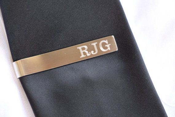 Custom Tie Bar Clip, Custom Tie Clip, Personalized Tie Bar, Tie Tack, Personalized Wedding Gift, Gifts for Usher, Wedding Favors, Groom Gift
