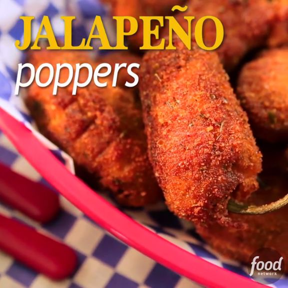 Jalapeno Poppers stuffed with Pimento Cheese and then pan-fried for a crispy finish... Your guests are guaranteed to want more!