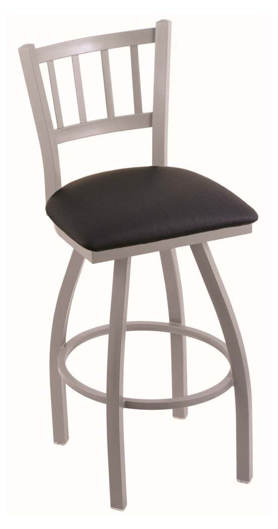Holland Bar Stool Contessa 36 in. Extra Tall Swivel Bar Stool with Faux Leather Seat - 81036ANBLKVINYL