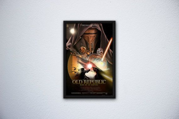 The Old Republic: Rise of an Empire by FPArtistry on Etsy #StarWars #Revan #Malak #HK #HK-47 #Movie #Poster #KOTOR