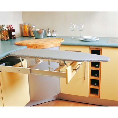Mobilier table table a repasser encastrable - Meuble cuisine avec table escamotable ...