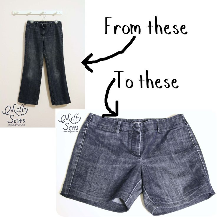 How to Make Jeans into Shorts| Melly SewsMelly Sews
