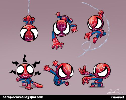 Spiderman Cute Chibi Husband Poses