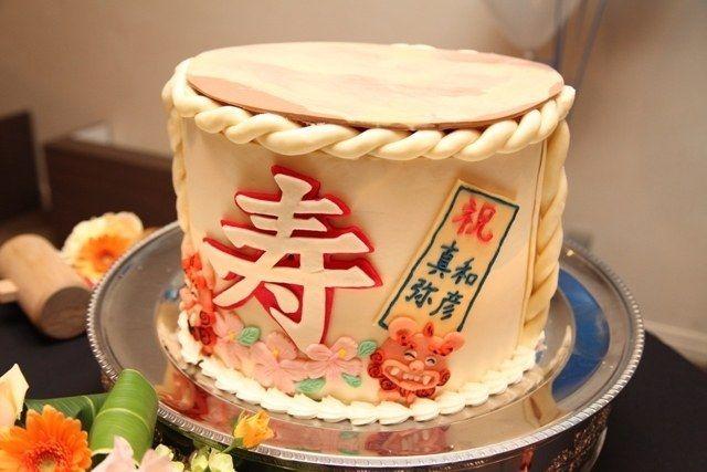 和風*ウェディングケーキとケーキ装飾の画像   ナチュラルカントリーな結婚式*〜遠距離から雪国女子になりました〜
