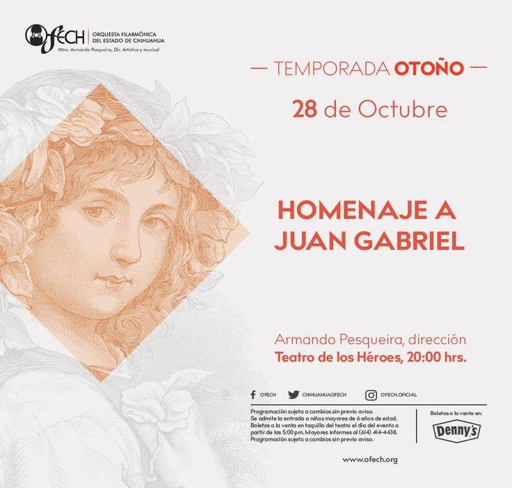 CON MARIACHI Y GRANDES VOCES, LA OFECH RENDIRÁ HOMENAJE EN CONCIERTO A JUAN GABRIEL