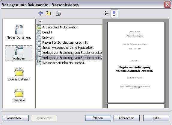 Openoffice Vorlagen Professional Template 3