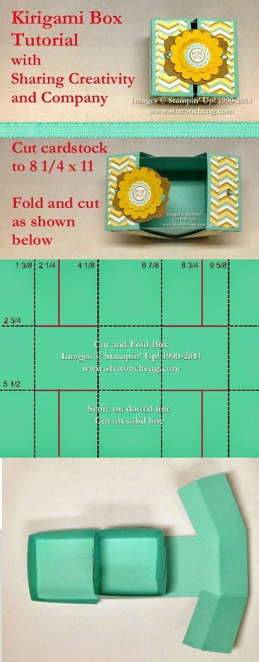 SHARING CREATIVITY and COMPANY: Kirigami (Cut and Fold) Box with Free Tutorial