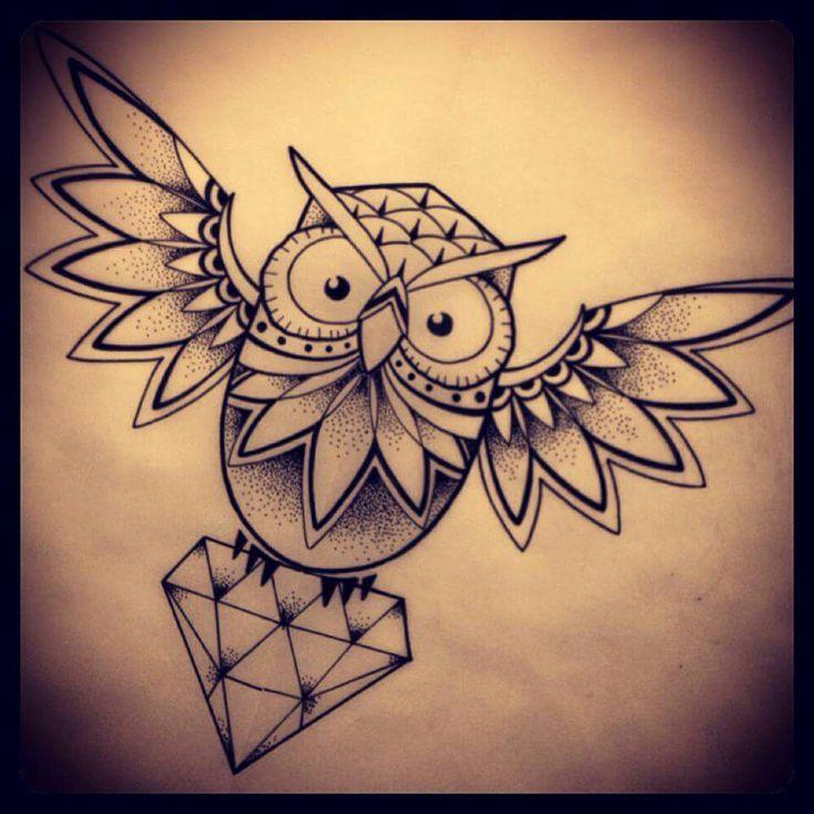ewig und drei tage tattoo owl diamond owl tattoos. Black Bedroom Furniture Sets. Home Design Ideas